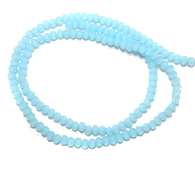 140+ Crystal Faceted Rondelle Beads Normal Turquoise 3 mm