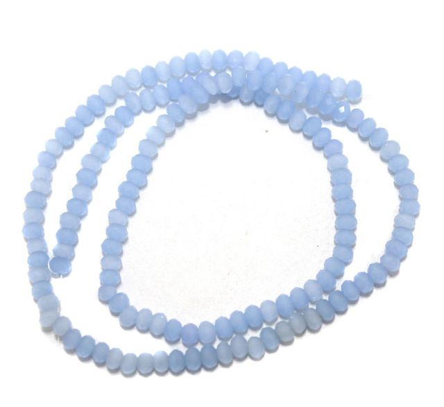 140+ Crystal Faceted Rondelle Beads Normal Light Blue 3 mm