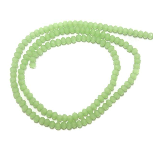 140+ Crystal Faceted Rondelle Beads Normal Green 3 mm