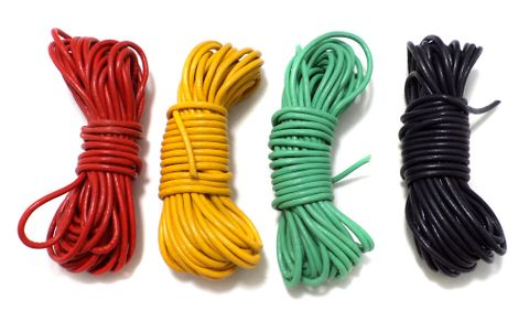 4 Leather Cord Combo Assorted 2 mm