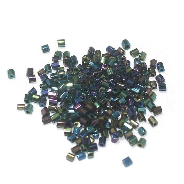 2 Cut Glass Seed Beads Metallic Purple (100 Gm), Size 11/0