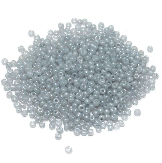 Glass Seed Beads Ceylonese Gray (100 Gm), Size 11/0