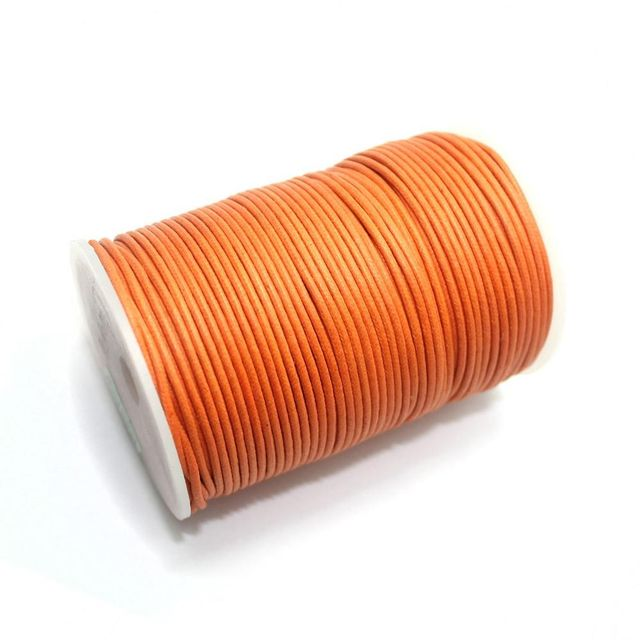100 Mtrs. Jewellery Making Cotton Cord Orange 2mm