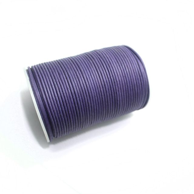 100 Mtrs. Jewellery Making Cotton Cord Purple 2mm