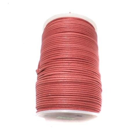 100 Mtrs. Jewellery Making Cotton Cord Cherry 2 mm