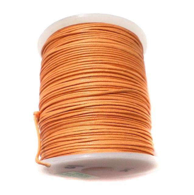 100 Mtrs. Jewellery Making Cotton Cord Orange 1 mm