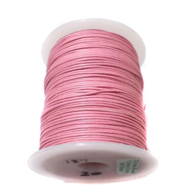 100 Mtrs. Jewellery Making Cotton Cord Pink 1 mm