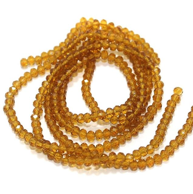 Faceted Crystal Beads 3mm Rondelle 1 Strings