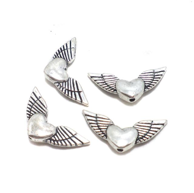 20 Pcs. German Silver Beads 24x11 mm