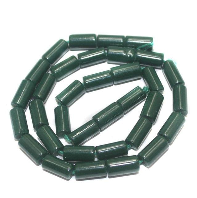 Jaipuri Beads Green Tube 5 Strings 12x6mm