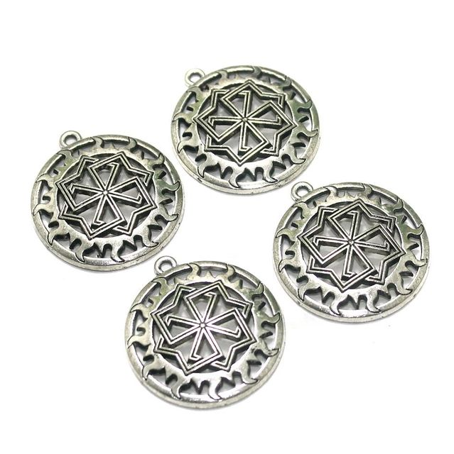 10 Pcs. German Silver Pendants Silver 33x29 mm