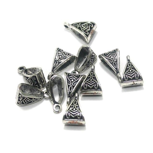 50 Pcs. German Silver Hooks Silver 15x9 mm