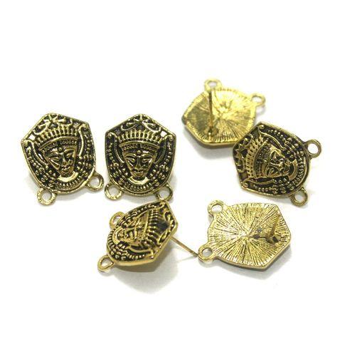 20 Pcs. German Silver Earring Components Golden 19x16 mm