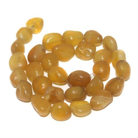 Tumbled Yellow Onyx Stone Beads 16-12 mm