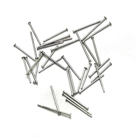 615 Pcs. German Silver Head Pins Silver 0.50 Inch