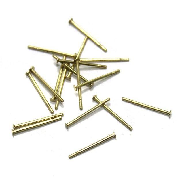 615 Pcs. German Silver Head Pins Golden 0.50 Inch