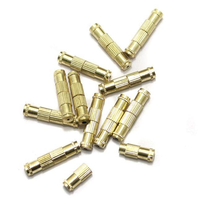 20 Barrel Clasp Golden 16x4mm