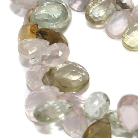 A string of Multi Stone faceted beads 10x6mm