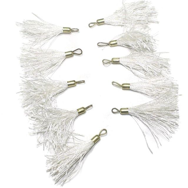 100 Pcs. Tassel Danglers White 2 Inch