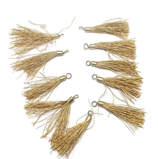 100 Pcs. Tassel Danglers Golden 2 Inch
