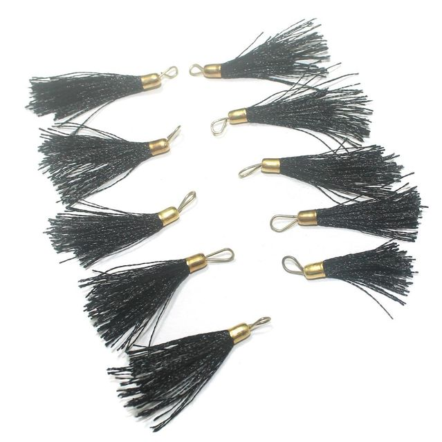 100 Pcs. Tassel Danglers Black 2 Inch