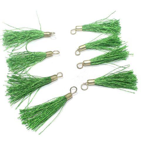 100 Pcs. Tassel Danglers Green 2 Inch