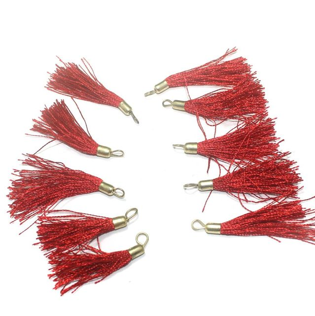 100 Pcs. Tassel Danglers Red 2 Inch