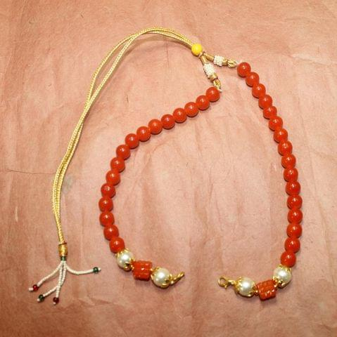 1 Pc Beaded Necklace Dori Orange