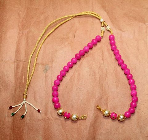 1 Pc Beaded Necklace Dori Magenta