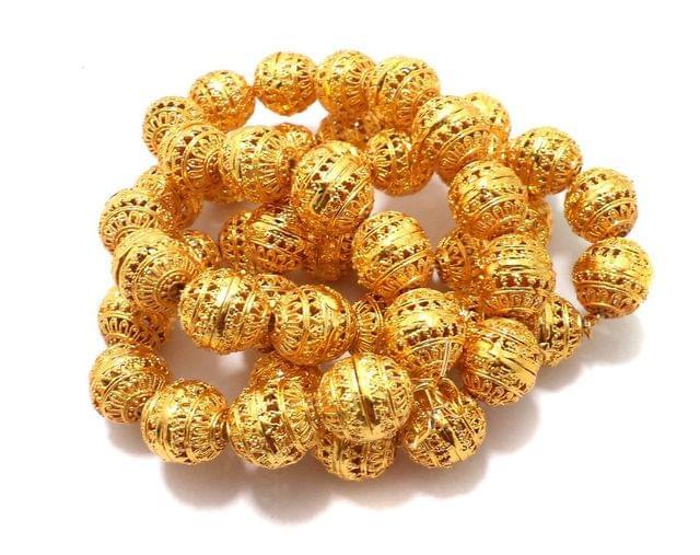 25 Pcs German Silver Rondelle Beads Golden 17x16 mm