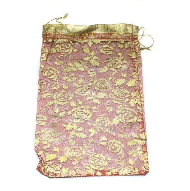 Potli Bags Peach for Jewellery Gift & Craft 23x16cm, Pack of 100 pcs