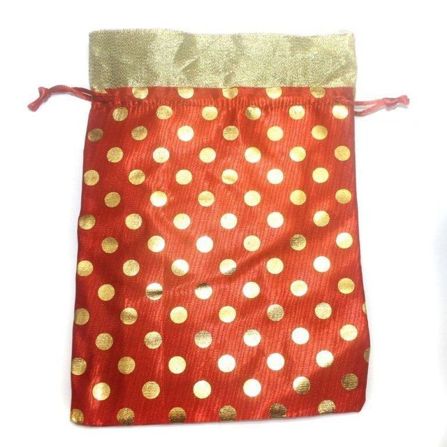 Potli Bags Red for Jewellery Gift & Craft 23x17cm, Pack of 25 pcs