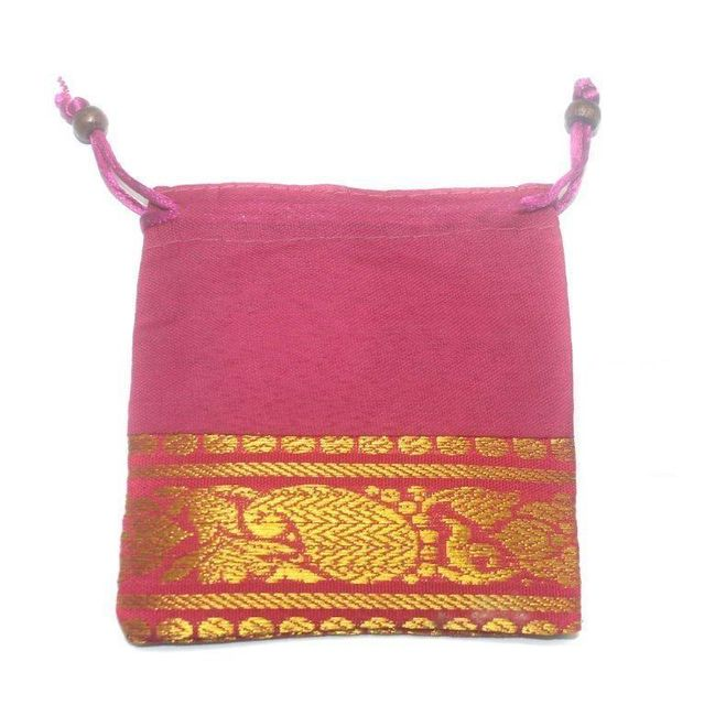 Potli Bags Pink for Jewellery Gift & Craft 11x11cm, Pack of 100 pcs