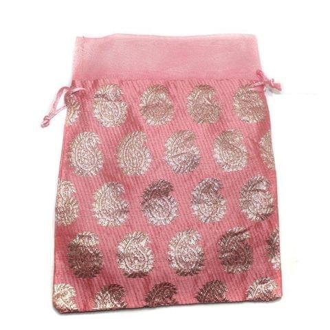 Potli Bags Pink for Jewellery Gift & Craft 23x18cm, Pack of 50 pcs
