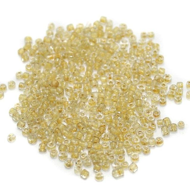 Seed Beads Inside Color Yellow Luster (100 Gm), Size 11/0