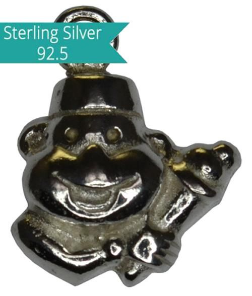 Sterling Silver Clown Charm, Pack of 2 Pcs.