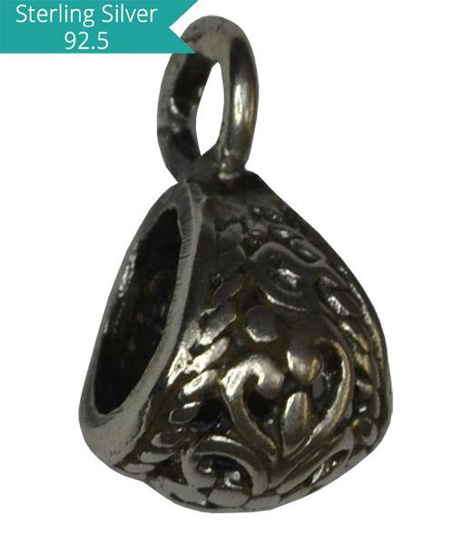 Sterling Silver Pendant Bail - 9mm
