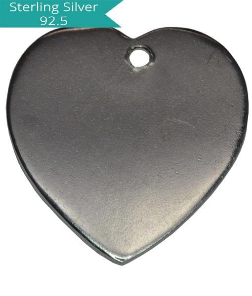 Sterling Silver Heart Engraving Charm