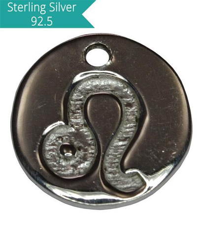 Sterling Silver LEO Charm