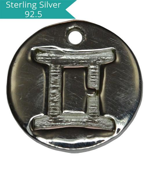 Sterling Silver GEMINI Charm