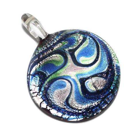 Glass Round Pendant 47x35mm