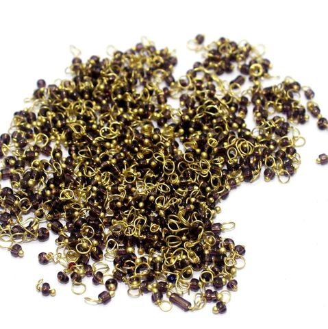 740+ Loreal Seed Beads Purple 2 mm