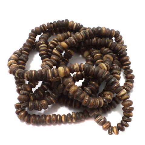 5 Strings Bone Roundell Beads 6x4 mm