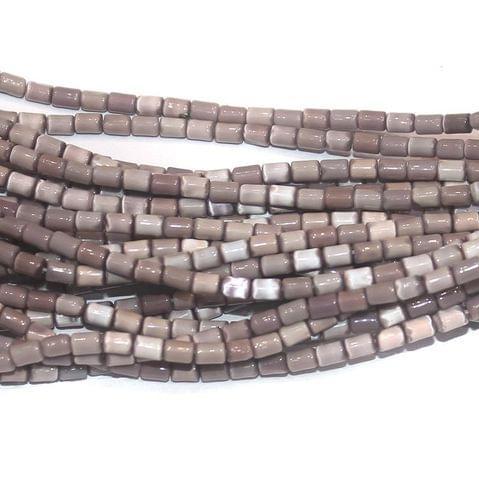 Cat's Eye Tube Beads Purple 3x5mm 10 Strings