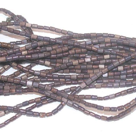 Cat's Eye Tube Beads Brown 3x5mm 10 Strings