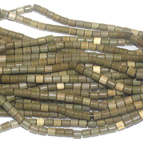 Cat's Eye Tyre Beads Mahndi 5x6mm 10 Strings