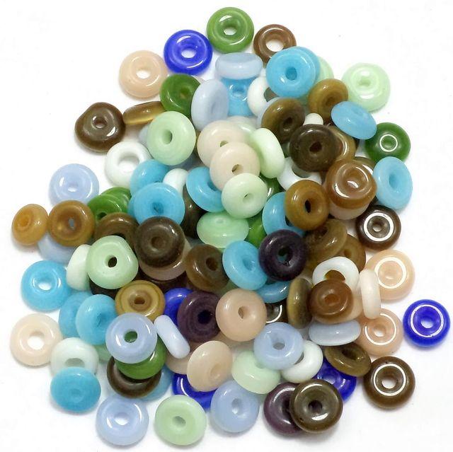 1070+ Cat's Eye Donut Beads Assorted 6mm