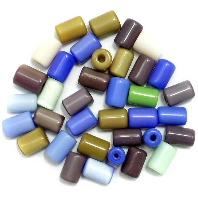 290+ Cat's Eye Tube Beads Assorted 10x6mm
