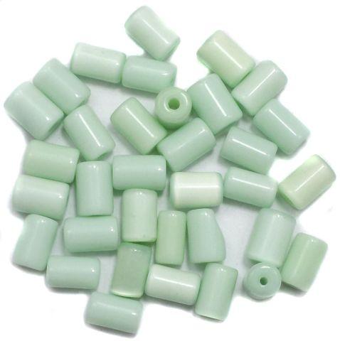 290+ Cat's Eye Tube Beads Light Green 10x6mm