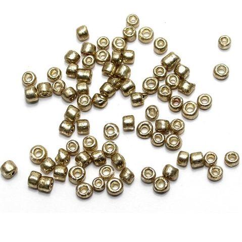 100 Gm Metallic Seed Beads Rose Gold 8/0 size